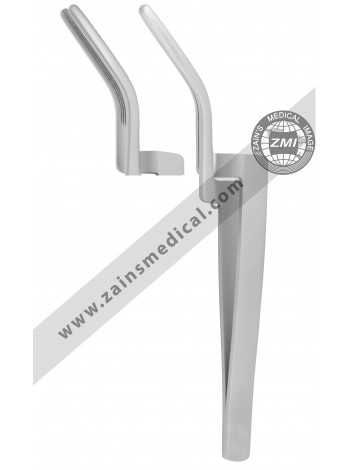 Articulating Paper Forceps Curved 6""