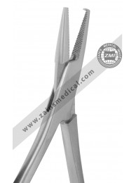Mathieu pliers with double spring serrated and hook tip